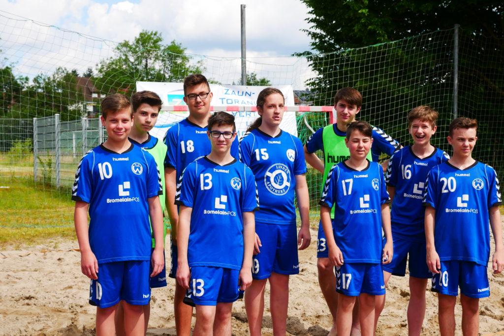 C- Jugend des TuS Wiebelskirchen beim Beachturnier in Kirkel 2019